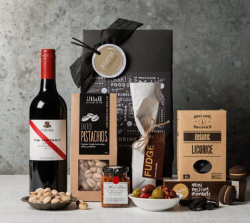 Red wine gift set. Gifts for men. gourmet basket
