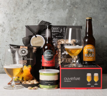 Beer and Glasses gift Hamper from Gourmet Basket | gifts for men