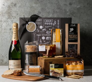 Moet Gift Set. Gift Hampers from Gourmet Basket. Gourmet hamper delivery.